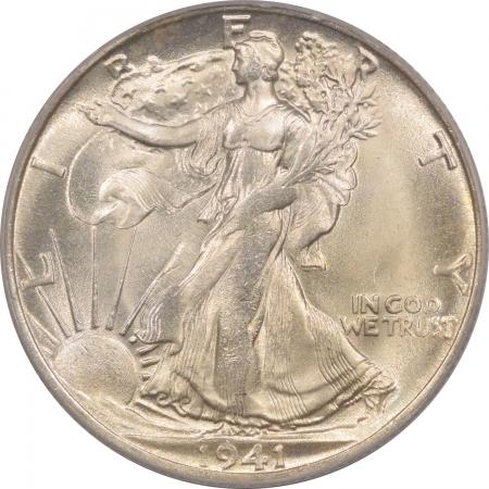 Walking Liberty Halves 1941-S WALKING LIBERTY HALF DOLLAR – PCGS MS-64 FRESH!