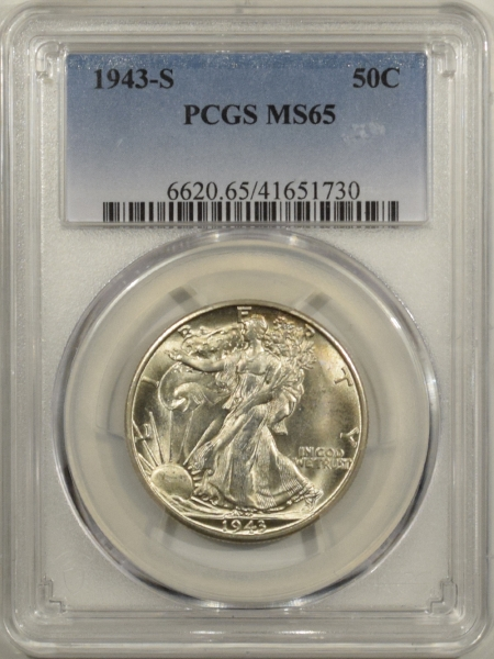 New Certified Coins 1943-S WALKING LIBERTY HALF DOLLAR – PCGS MS-65 FRESH & FLASHY!