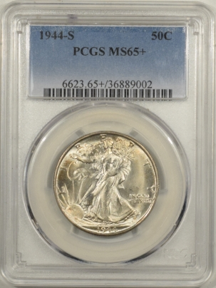Coin World/Numismatic News Featured Coins 1944-S WALKING LIBERTY HALF DOLLAR – PCGS MS-65+ PRISTINE GEM