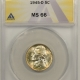 New Certified Coins 1944-S JEFFERSON NICKEL – ANACS MS-67