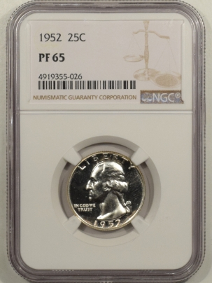 New Certified Coins 1952 PROOF WASHINGTON QUARTER NGC PF-65 SUPERBIRD (VARIETY NOT NOTED ON HOLDER)