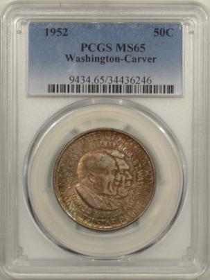 New Certified Coins 1952 WASHINGTON-CARVER COMMEMORATIVE HALF DOLLAR – PCGS MS-65 ORIGINAL GEM!