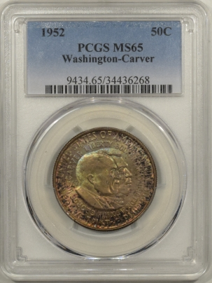 New Certified Coins 1952 WASHINGTON-CARVER COMMEMORATIVE HALF DOLLAR – PCGS MS-65 GORGEOUS COLOR!
