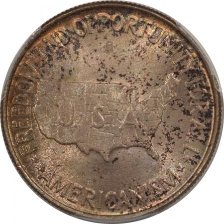 New Certified Coins 1952 WASHINGTON-CARVER COMMEMORATIVE HALF DOLLAR – PCGS MS-65 GORGEOUS COLOR!