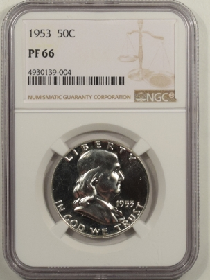 Franklin Halves 1953 PROOF FRANKLIN HALF DOLLAR – NGC PF-66