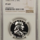 New Certified Coins 1956 PROOF FRANKLIN HALF DOLLAR, TY II – NGC PF-69, WHITE!