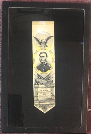 Miscellaneous RARE STONEWALL JACKSON WOVEN SILK MEMORIAL RIBBON, ca. 1860s, STEVENS-COVENTRY