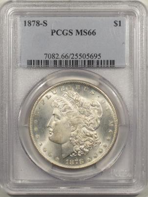 Morgan Dollars 1878-S MORGAN DOLLAR – PCGS MS-66 WHITE & SUPERB!