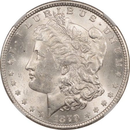 New Certified Coins 1879 MORGAN DOLLAR – NGC MS-63, BLAST WHITE