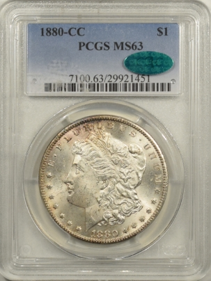 New Certified Coins 1880-CC MORGAN DOLLAR – PCGS MS-63 PREMIUM QUALITY & CAC APPROVED!