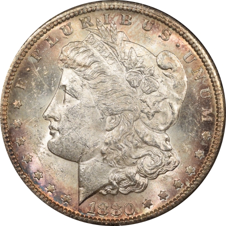 New Certified Coins 1880-S MORGAN DOLLAR BLACK PARAMOUNT REDFIELD COLLECTION HOLDER PRETTY CHOICE BU