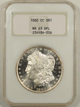Morgan Dollars 1882-CC MORGAN DOLLAR – NGC MS-63 DPL LOOKS GEM, FATTY & PREMIUM QUALITY!