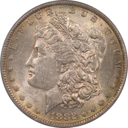 New Certified Coins 1882-O/S MORGAN DOLLAR, STRONG – PCGS MS-61