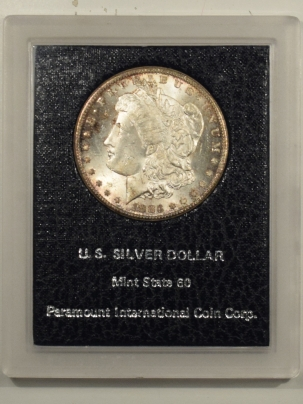 New Certified Coins 1883-CC MORGAN DOLLAR BLACK PARAMOUNT HOLDER SCARCE CARSON CITY PRETTY CHOICE BU