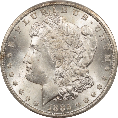 New Certified Coins 1885-CC MORGAN DOLLAR – PCGS MS-64 PREMIUM QUALITY & CAC APPROVED!