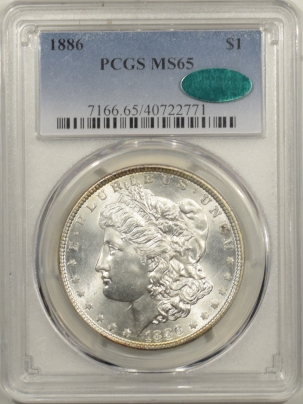 New Certified Coins 1886 MORGAN DOLLAR – PCGS MS-65, CAC APPROVED! MS-66 QUALITY! PREMIUM QUALITY!