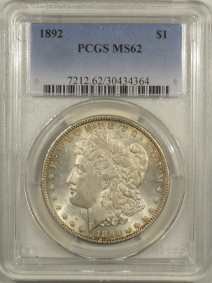 New Certified Coins 1892 MORGAN DOLLAR – PCGS MS-62 FRESH & LOOKS CHOICE!