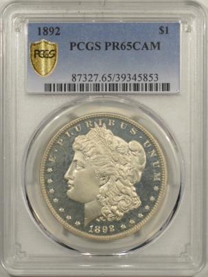 Morgan Dollars 1892 PROOF MORGAN DOLLAR – PCGS PR-65 CAM, CAMEO GEM PROOF!