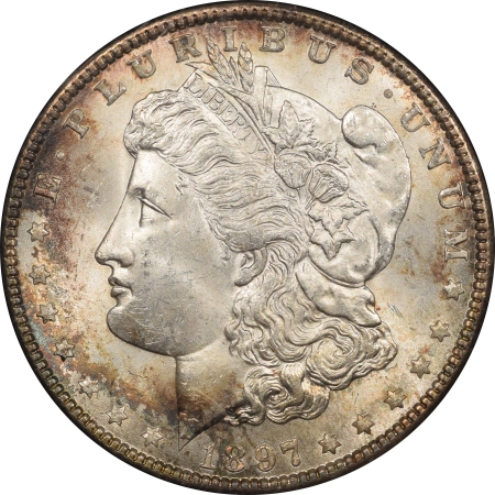 New Certified Coins 1897 MORGAN DOLLAR BLACK PARAMOUNT REDFIELD COLLECTION HOLDER REALY PRETTY BU!!