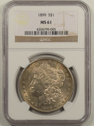 New Certified Coins 1899 MORGAN DOLLAR – NGC MS-61