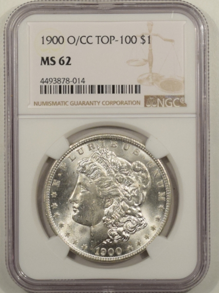 New Certified Coins 1900-O/CC MORGAN DOLLAR TOP 100 NGC MS-62