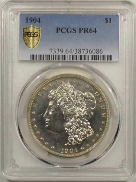 New Certified Coins 1904 PROOF MORGAN DOLLAR – PCGS PR-64