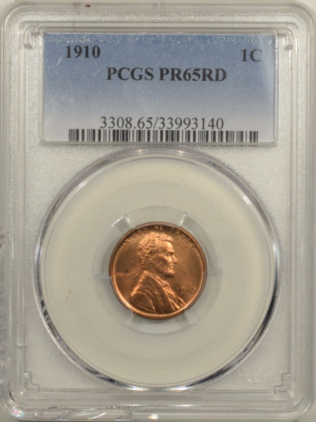 New Certified Coins 1910 MATTE PROOF LINCOLN CENT – PCGS PR-65 RD
