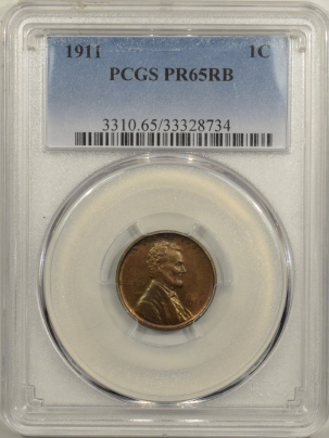 Coin World/Numismatic News Featured Coins 1911 MATTE PROOF LINCOLN CENT – PCGS PR-65 RB