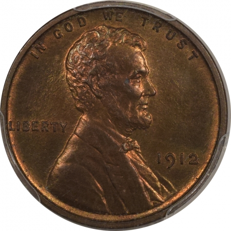 New Certified Coins 1912 MATTE PROOF LINCOLN CENT – PCGS PR-64 RB CAC APPROVED!