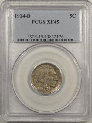Buffalo Nickels 1914-D BUFFALO NICKEL – PCGS XF-45