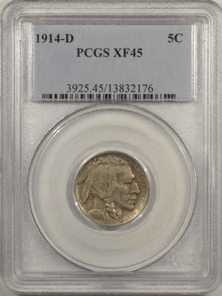 New Certified Coins 1914-D BUFFALO NICKEL – PCGS XF-45
