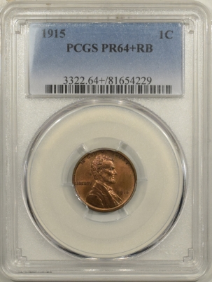 Coin World/Numismatic News Featured Coins 1915 MATTE PROOF LINCOLN CENT – PCGS PR-64+ RB
