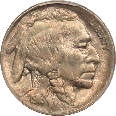 New Certified Coins 1916 BUFFALO NICKEL – PCGS MS-63 PREMIUM QUALITY!