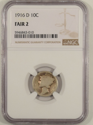New Certified Coins 1916-D MERCURY DIME – NGC FAIR-2