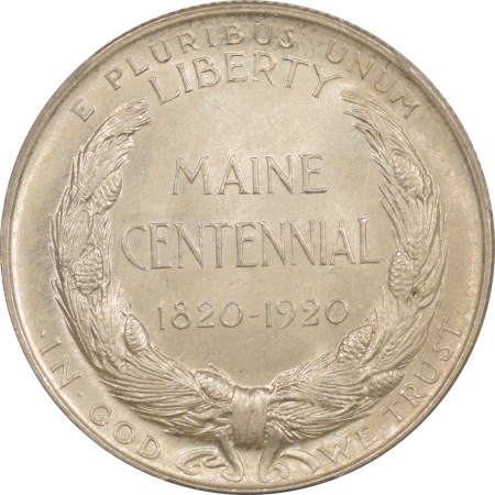 New Certified Coins 1920 MAINE COMMEMORATIVE HALF DOLLAR – PCGS MS-65 FRESH & MARK FREE!