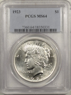 New Certified Coins 1923 PEACE DOLLAR – PCGS MS-64 WHITE