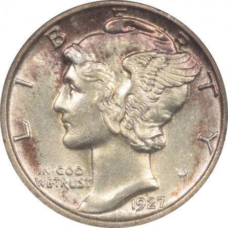 New Certified Coins 1927 MERCURY DIME – ANACS AU-58 PREMIUM QUALITY, LOOKS BU!