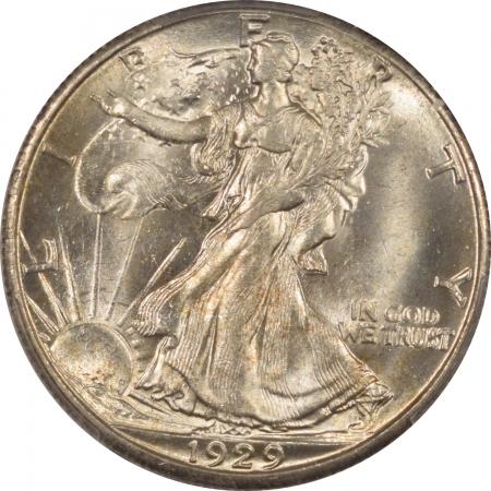 New Certified Coins 1929-S WALKING LIBERTY HALF DOLLAR PCGS MS-64 FLASHY ORIGINAL WHITE, WELL STRUCK