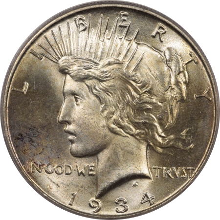 New Certified Coins 1934 PEACE DOLLAR – PCGS MS-65 FRESH, LUSTROUS! & CAC APPROVED!