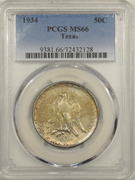 New Certified Coins 1934 TEXAS COMMEMORATIVE HALF DOLLAR – PCGS MS-66