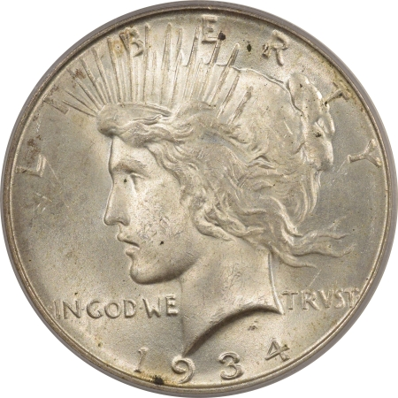 New Certified Coins 1934-D PEACE DOLLAR – PCGS MS-63