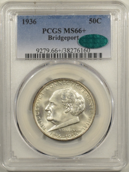 New Certified Coins 1936 BRIDGEPORT COMMEMORATIVE HALF DOLLAR – PCGS MS-66+ FRESH PQ & CAC APPROVED!