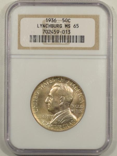 New Certified Coins 1936 LYNCHBURG COMMEMORATIVE HALF DOLLAR – NGC MS-65 FRESH & PREMIUM QUALITY!
