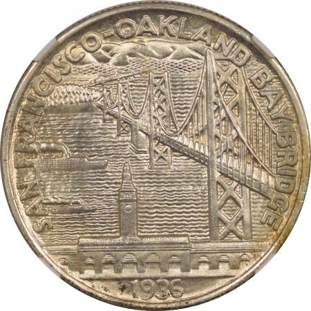 New Certified Coins 1936-S BAY BRIDGE COMMEMORATIVE HALF DOLLAR – NGC MS-65