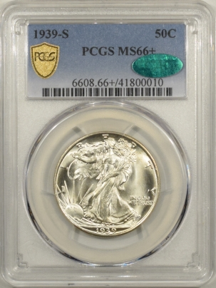 CAC Approved Coins 1939-S WALKING LIBERTY HALF DOLLAR – PCGS MS-66+ PREMIUM QUALITY & CAC APPROVED!