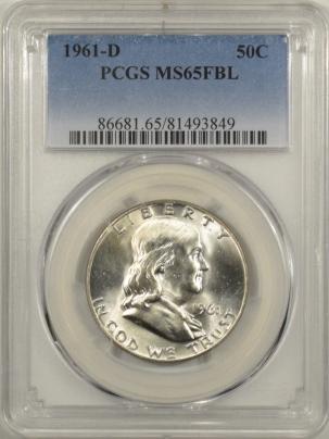 New Certified Coins 1961-D FRANKLIN HALF DOLLAR – PCGS MS-65 FBL