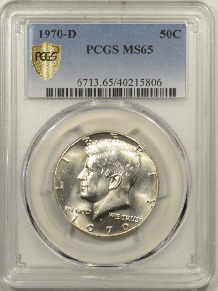 New Certified Coins 1970-D FRANKLIN HALF DOLLAR – PCGS MS-65 BLAST WHITE!