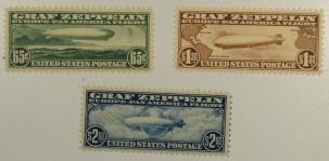 U.S. Stamps C-13, C-14, C-15 GRAF ZEPPELIN SET (3), FRESH & VERY CHOICE, MOG NH W/ PSE CERTS