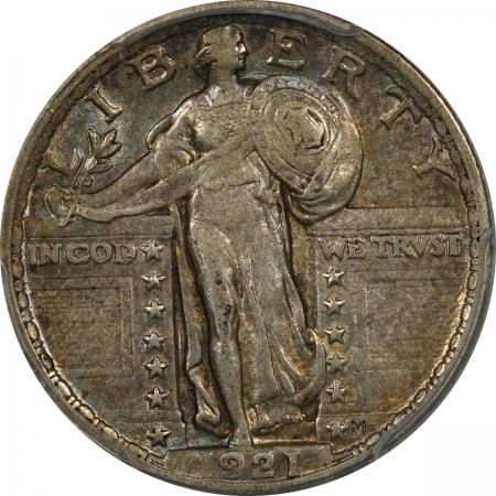 CAC Approved Coins 1921 STANDING LIBERTY QUARTER – PCGS AU-50  ORIGINAL & PREMIUM QUALITY & CAC!