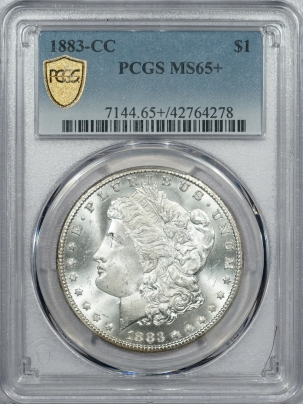 Coin World/Numismatic News Featured Coins 1883-CC MORGAN DOLLAR, PCGS MS-65+, PQ & LOOKS MS-66; GORGEOUS RAINBOW REVERSE!